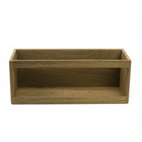 Teak book rack small